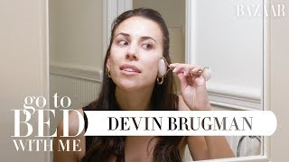 Devin Brugman's Nighttime Skincare Routine | Go To Bed With Me | Harper's BAZAAR