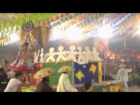Quadrilha Balão Dourado na Final do Festival de Quadrilhas da Globo Nordeste