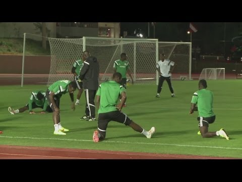 Nigeria train three days before France clash - Brazil World Cup 2014