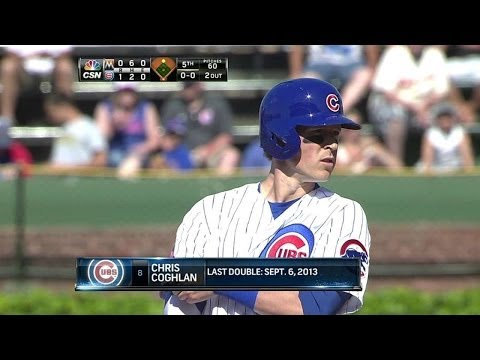 MIA@CHC: Coghlan hits an RBI double for first run