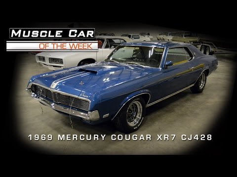 Muscle Car Of The Week Video #37: 1969 Mercury Cougar XR7 Cobra Jet 42