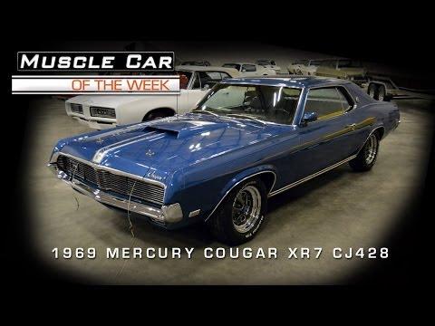 Muscle Car Of The Week Video #37: 1969 Mercury Cougar XR7 Cobra Jet 42
