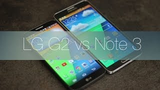 Comparativa LG G2 Vs Samsung Galaxy Note 3