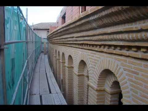 Rehabilitacion fachada piedra y ladrillo imitado rustico - Ladrillo caravista rustico ...