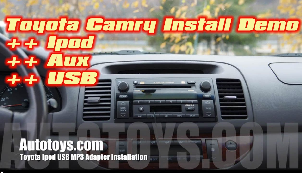 toyota camry ipod iphone usb aux mp3 interface installation by grom audio by autotoys com youtube. Black Bedroom Furniture Sets. Home Design Ideas