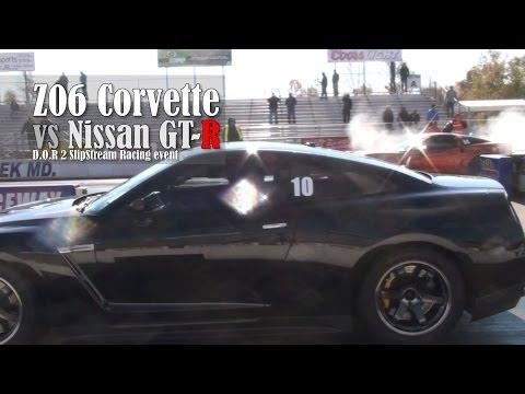 Nissan GT-R vs Z06 Corvette