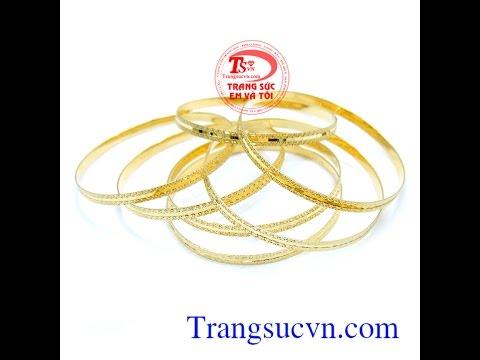 Vòng tuần 10k 7chiếc, vòng tuần vàng tây, TSVN013076
