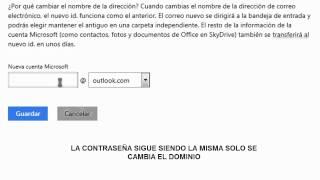 Como Cambiar El Correo Hotmail O Live A Lo Que Es Outlook