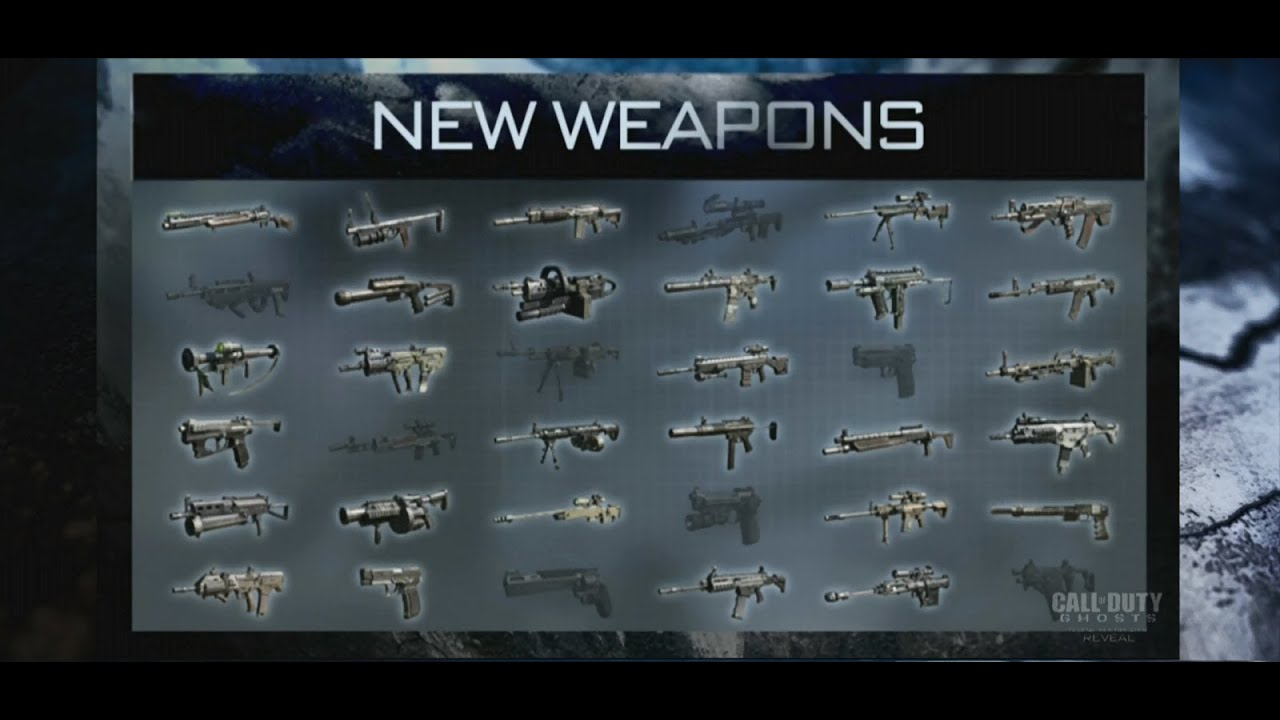 Cod ghosts confirmed guns call of duty ghosts livestream new