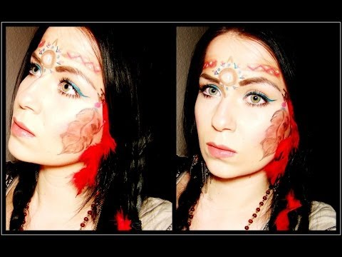 Karneval: Indianer / Pocahontas - Native American Princess Tutorial