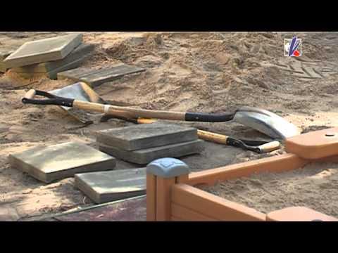 Смотреть видео В вентспилских детских садах появились новые песочницы