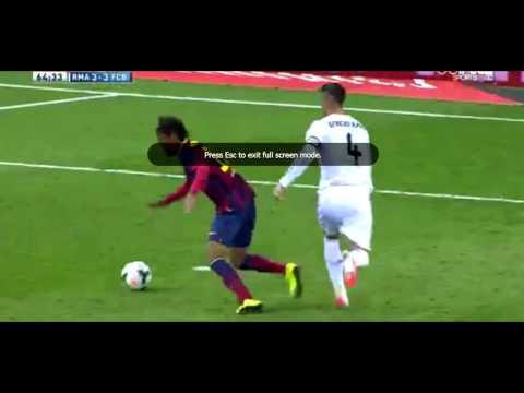 Neymar dives against Real Madrid - Sergio Ramos RED CARD (El Clasico 23rd March)