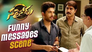 Sarrainodu Comedy Trailer  - Funny Messages Scene