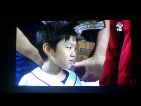 Koji Uehara Accepting ALCS MVP Award!