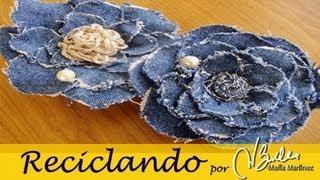 Reciclando: Broche De Tela Vaquera Inspirado En Chanel