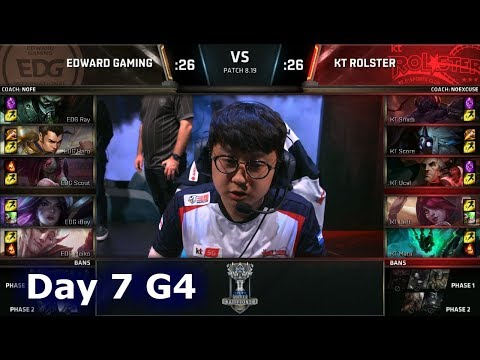 EDG vs KT | Day 7 Group C Decider S8 LoL Worlds 2018 | Edward Gaming vs KT Rolster