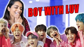 Reacting to BOY WITH LUV by BTS