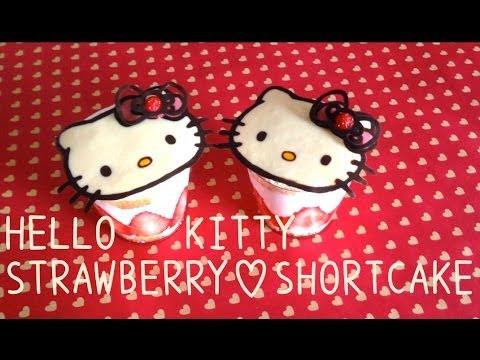 Hello Kitty Strawberry Shortcake recipe ハローキティーいちごショートケーキ