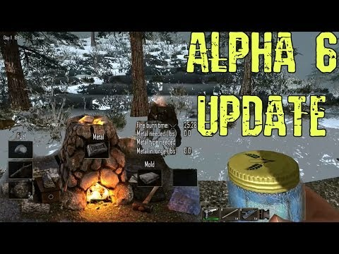 7 Days to Die Alpha 6 Update -- Snow Biome, Snow Zombies, Forging System, Weapon Crafting