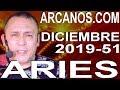 Video Horóscopo Semanal ARIES  del 15 al 21 Diciembre 2019 (Semana 2019-51) (Lectura del Tarot)