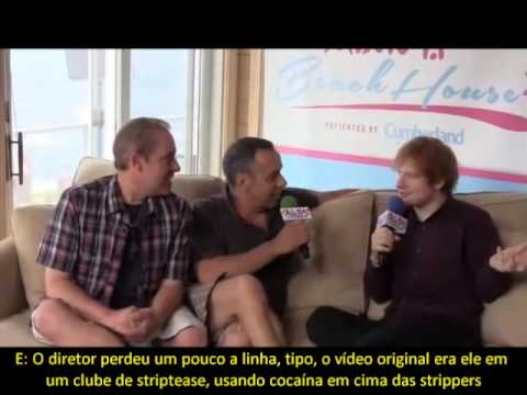 Ed Sheeran Original 'Sing' Video Had Puppet Self 'Doing Coke Off Strippers' (Legendado PT-BR)