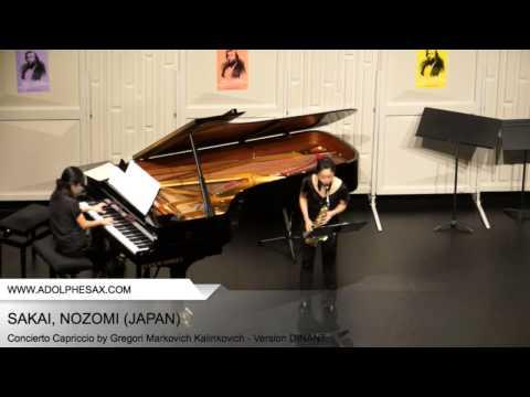 Dinant 2014 – SAKAI Nozomi (Concierto Capriccio by Gregori Markovich Kalinkovich – Version DINANT)