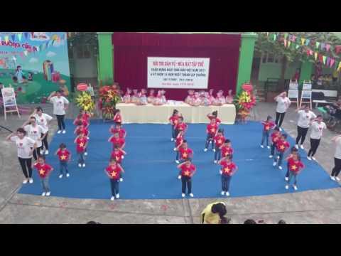 Nối vòng tay lớn - Nhảy múa dân vũ cô và trò Trường MN Thực Hành Linh Đàm
