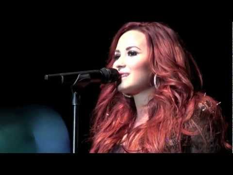 Give Your Heart A Break Live Demi Lovato SantaSlam 12/5/11