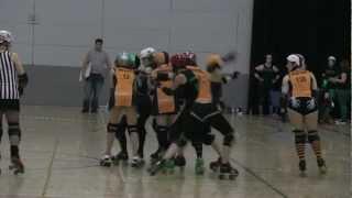 Sheffield Steel Rollergirls vs Big Bucks High Rollers Roller Derby Highlights view on youtube.com tube online.