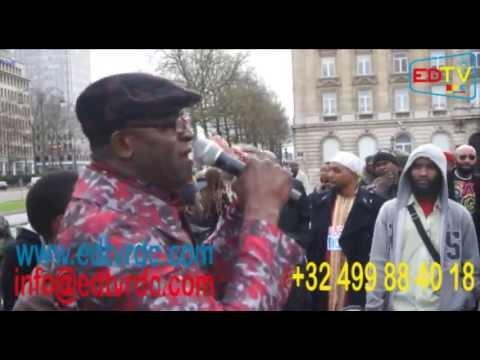 LA MANIFESTATION DU 27 AVRIL 2013 A BRUXELLES LA DIASPORA CONGOLAISE DE L'UE DEBOUT.
