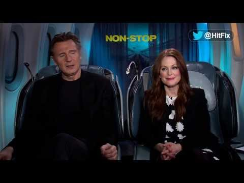 Liam Neeson and Julianne Moore on how 'Non Stop' is a modern day Hitchcock film