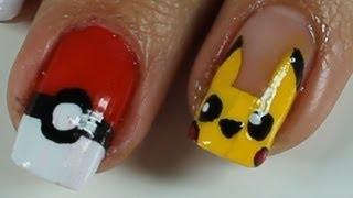 Unhas Filha única Pikachu E Pokebolas (desenho Pokémon