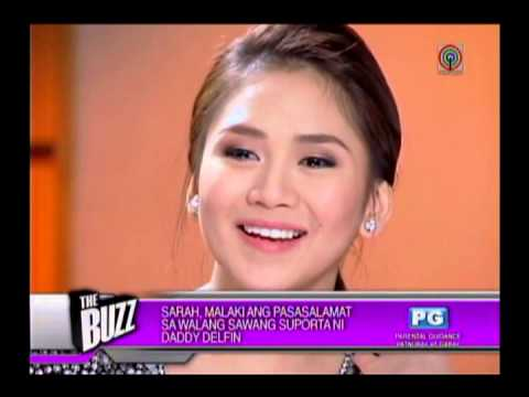 Sarah G sheds tears as she lauds dad
