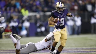 Highlight: Washington football's Myles Gaskin rushes for four touchdowns in Apple Cup