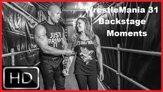 Best WrestleMania 31 Backstage Moments
