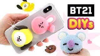 BTS DIYs for the ARMY!!! Chimmy Cooky DIY Phone Case & Koya Plush from BT21