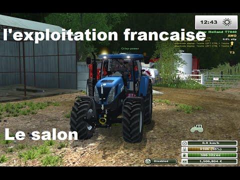 L'exploitation francaise visite du salon agricole