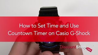 [HOW TO- Set Time and Countdown Timer on Casio G-Shock Watches] Video