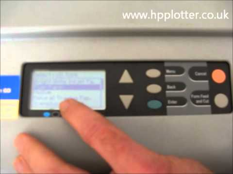 Designjet 500/800 Series - Load paper/media roll on your printer