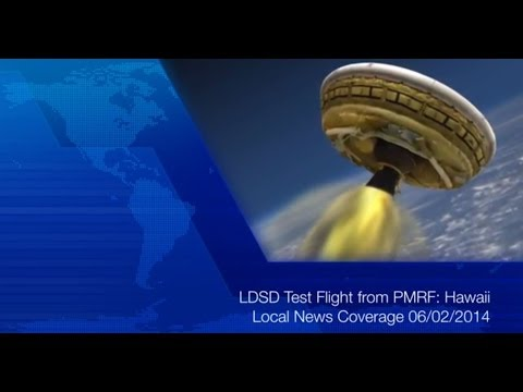 LDSD Test Flight from PMRF - Hawaii Local News Coverage 06/02/2014