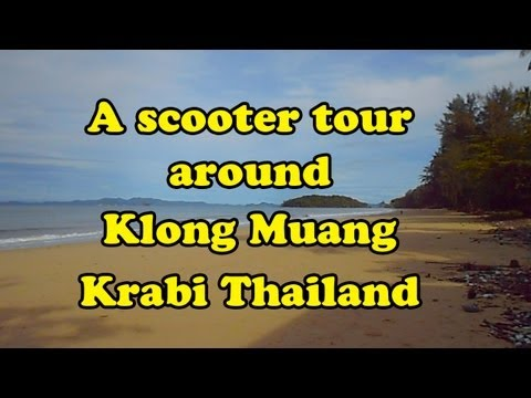 Klong Muang, Krabi, Thailand, a short tour. Showing the beach, hotels & restaurants