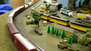 N-scale Freight Trains On Large Layout