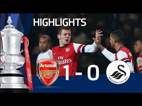 Arsenal 1-0 Swansea - Wilshere goal and full highlights | The FA Cup 3rd Round Replay 2013