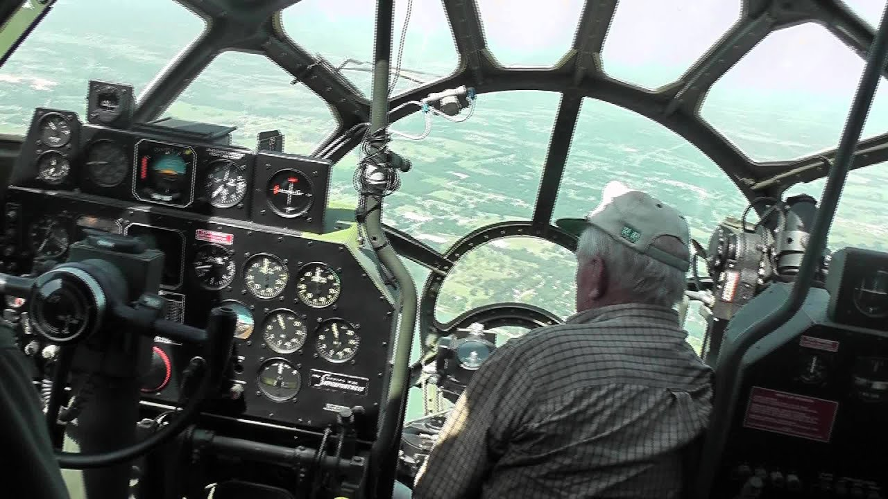 B 29 Inside B29 (FiFi) Flying over...