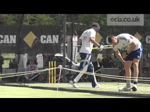 England Training - Kevin Pietersen in the Nets
