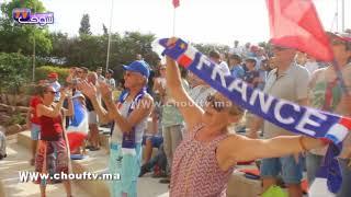 فيديو رائع..احتفالية هيستيرية لمواطنين فرنسيين بأكادير بعد فوز الديوك بالمونديال | خارج البلاطو
