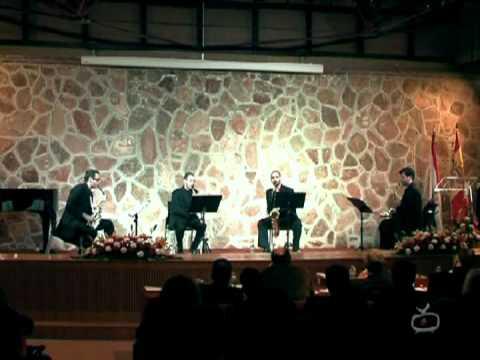 Opus Sectile. César Camarero. Cuarteto Saxofones Octavia. Final Pedro Bote 2010.mpeg