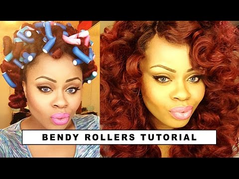 How To Curl Your Hair Using Bendy Rollers | Edee Beau