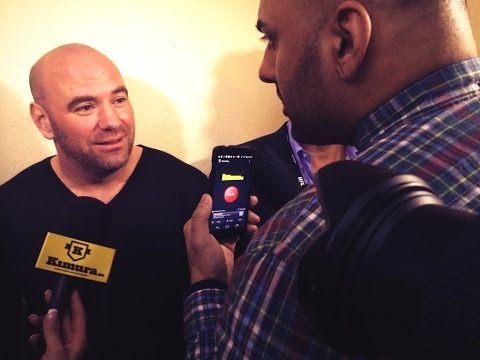 UFC Fight Night London Dana White Media Scrum