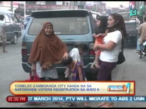 News@1: COMELEC-Zamboanga City, handa na sa nationwide voter's registration sa Mayo 6